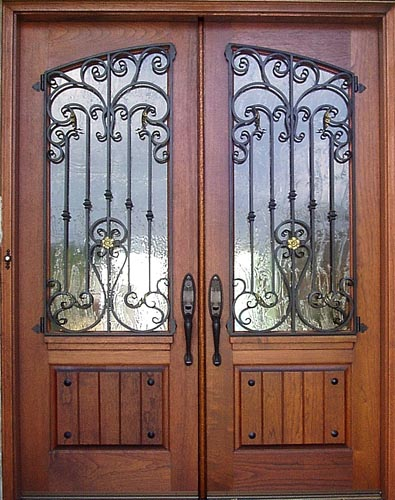 wooden window design with grill
